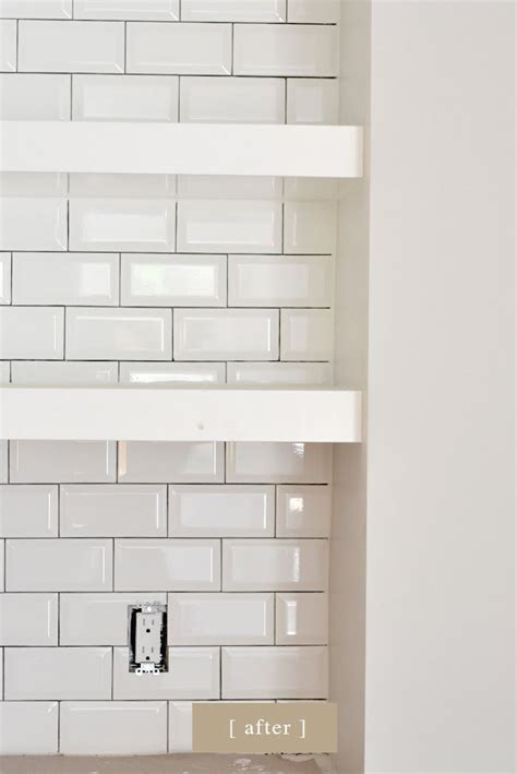 light gray subway tile use dark or light gray grout between tiles and white