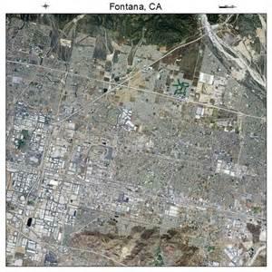 aerial photography map of fontana ca california