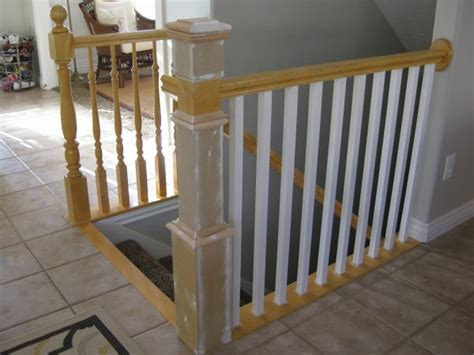 Banister Post by Remodelaholic Stair Banister Renovation Using Existing