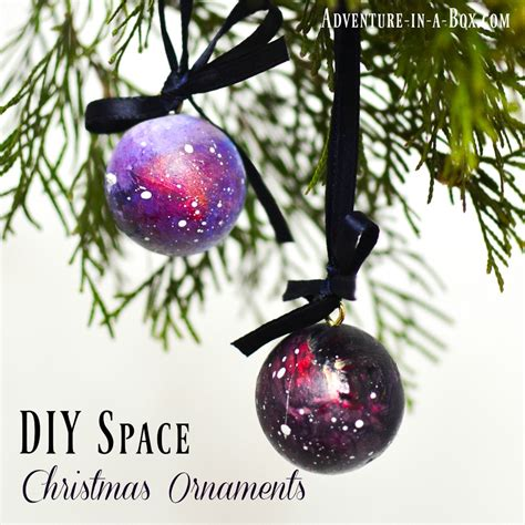 Handmade Ornaments To Make - diy space ornaments adventure in a box