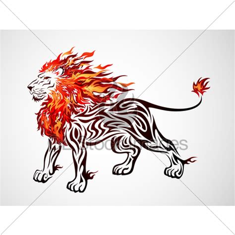 fire lion 183 gl stock images