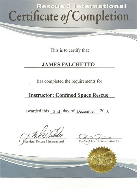 confined space card template best photos of confined space certificate