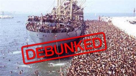 boat back to africa beware the fake migrant images shared online