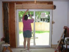 How To Install Sliding Patio Door We Installed The Frame Then Installed The Stationery Door And It All Fit With A Bit Of