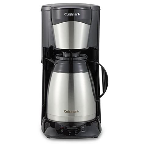 cuisinart coffee maker bed bath beyond cuisinart 174 12 cup stainless steel programmable thermal coffee maker bed bath beyond