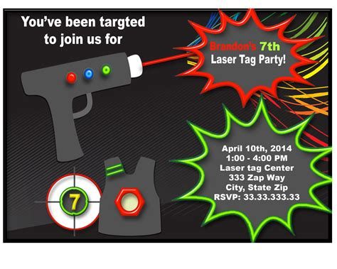 free printable birthday invitations laser tag laser tag birthday invitations laser tag invitation laser