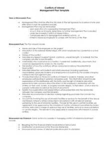 conflict of interest management plan template ies footcandle recommendations