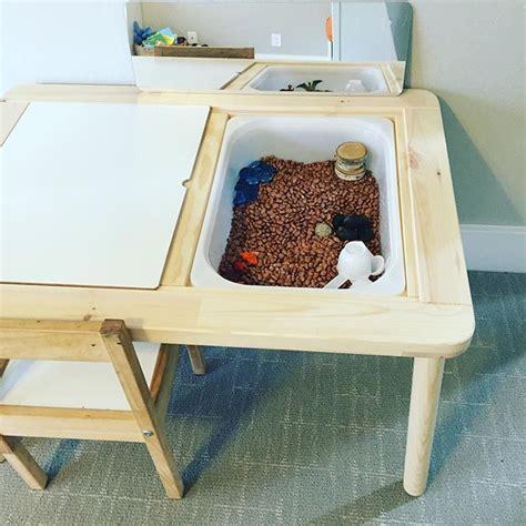 ikea flisat table flisat ikea sensory bin table kids corner pinterest