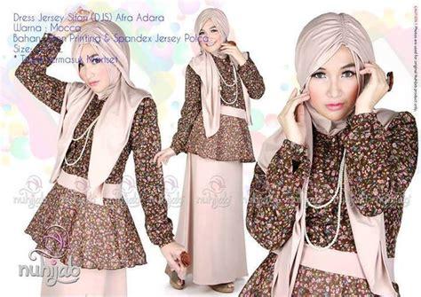 Ij8 Otniel Top Mocca 76 000 baju muslim gaya dress jersey sifon djs afra adara by nuhijab