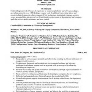Technical Support Engineer Resume Sle by Desktop Support Engineer Resume Sales Support Lewesmr