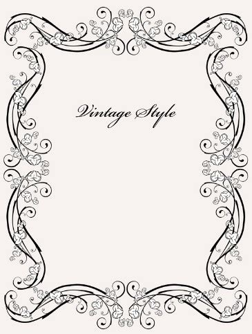 frame design software free download free vintage styled simple dark floral frame vector 01