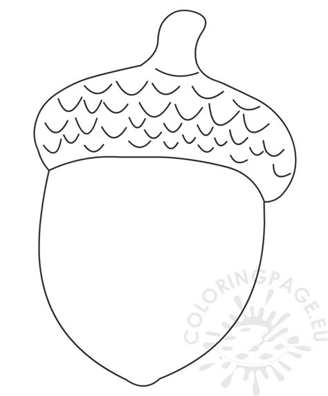 coloring page of acorn acorn coloring book coloring page