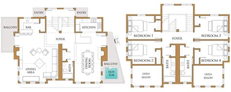 Vacation Rental House Plans | 2d floor plans for vacation rental properties online