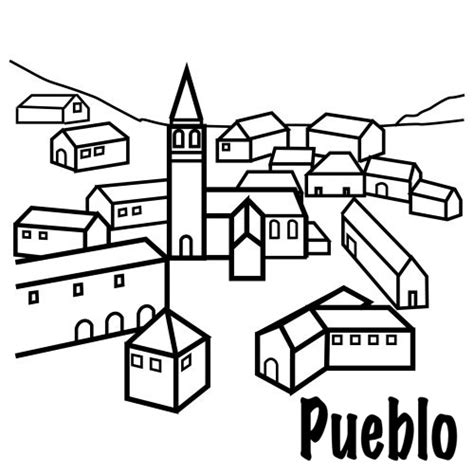 pueblo de casitas mandalas infantiles para colorear para dibujos de pueblos para imprimir imagui