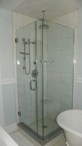 small glass shower bathroom renovation