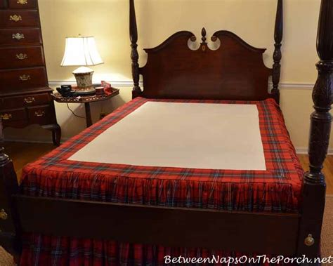 Bedskirt For Bed With Footboard how to make a bedskirt for a high bed