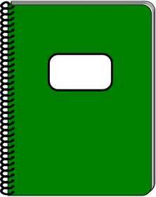 Clipart Notebook spiral notebook 2 by snifty a spiral notebook
