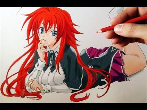 cómo dibujar a rias gremory de high school dxd