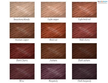 ginger hair chart red hair color chart lovetoknow