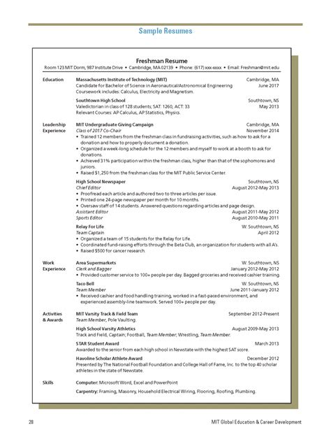 computer science resume sle for students exles of