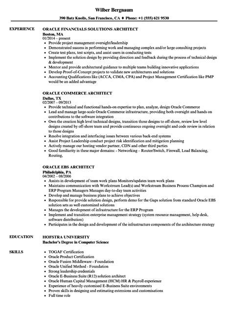 Oracle Architect Cover Letter by Oracle Architect Resume Sles Velvet