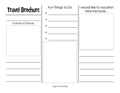 travel brochure templates for students this printable travel brochure will help organize