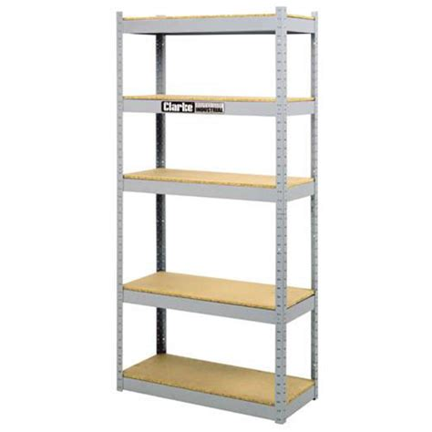 Steel Shelving Systems Clarke Tools Chronos Csl5400 5 Shelf Industrial