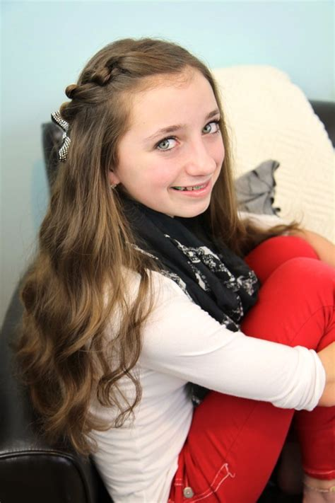 12 year old girl primejailbait knotted pullback easy hairstyles cute girls hairstyles