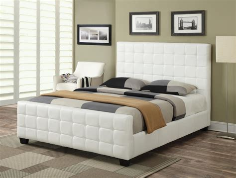 white queen size bed coaster 300040q white queen size leather bed steal a