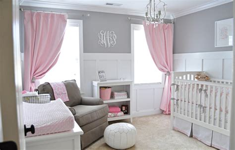 Pink And Grey Baby Nursery Ideas Mippoos