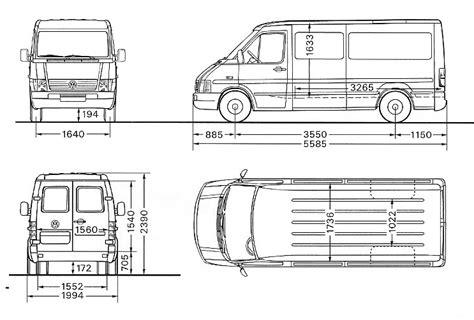 Vans 2d car blueprints 1996 volkswagen lt 46 typ 2d 3550 blueprint