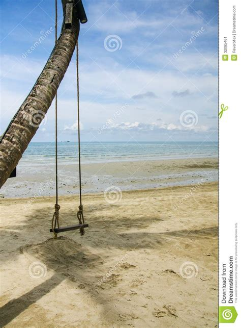 thai swing a swing beside the sea thailand stock image image 32085461