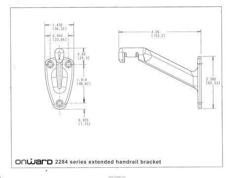 Extended Handrail Bracket extended arm heavy duty handrail bracket 2284acbv richelieu hardware