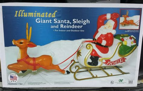 general foam plastic reindeer with antlers plastic sleigh shop collectibles daily