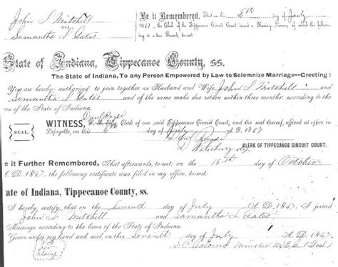 Tippecanoe County Marriage Records Tippecanoe Co In Marriages M Z