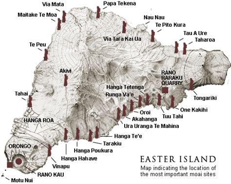 easter island map easter island moai location map