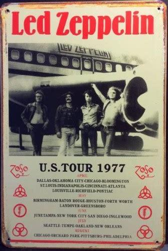 Led Zeppelin Usa Tour 1977 led zeppelin plane usa tour 1977 tin sign pub world