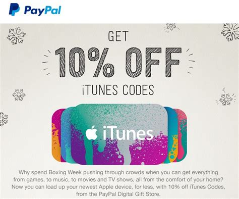 Where To Buy Paypal Gift Cards In Canada - paypal canada offers 10 off itunes codes so you can avoid the crowds iphone in