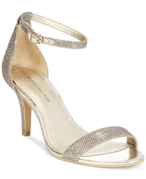 macys dress sandals bandolino madia dress sandals in metallic lyst