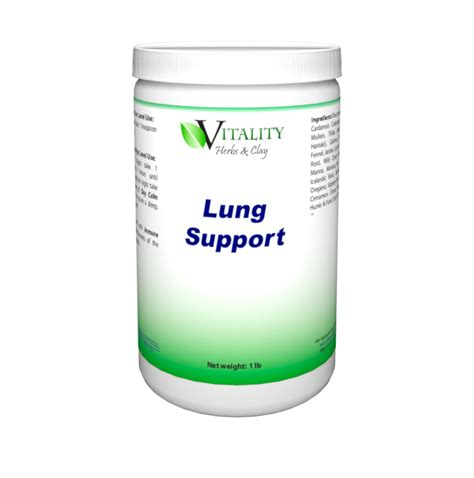 Vital Lung Detox Ingredients by Lung Support Vitality Herbs Clay