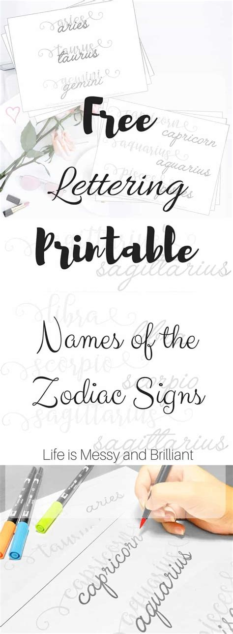 free printable fonts for ipad free names of the zodiac signs lettering printable