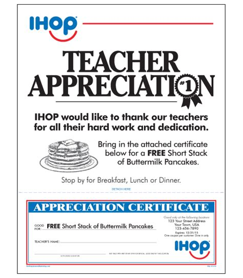 appreciation letter on teachers day ihop local store marketing appreciation letter