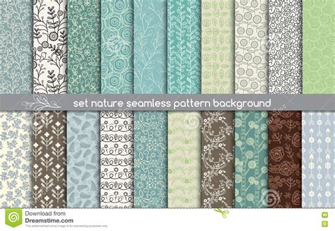 illustrator pattern nature set nature seamless patterns pattern swatches included for