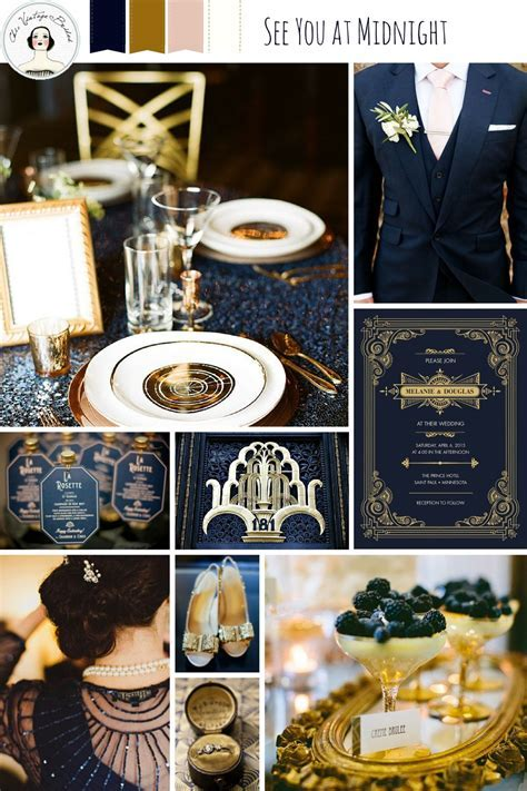 New Years Eve Wedding Ideas in Midnight Blue & Gold : Chic