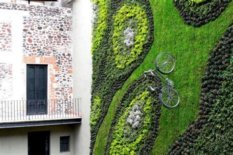 vertical garden adds to mexico city hotel