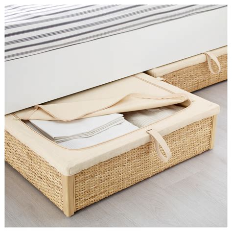 under bed storage drawers australia r 214 mskog bed storage box rattan 65x70 cm ikea