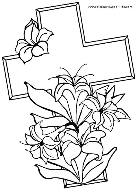 easter story cross colouring pages page 2