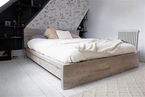 ikea hack malm bed to four poster hester s handmade home ikea hack rustic look for a malm bedframe hester s