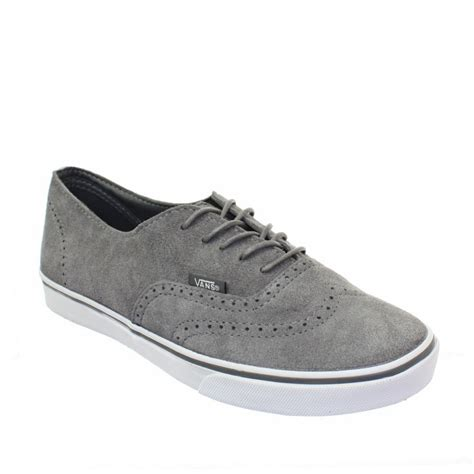 Vans Authentic Oxford womens vans authentic lo pro suede oxford grey lace up flat trainers size 3 8 ebay