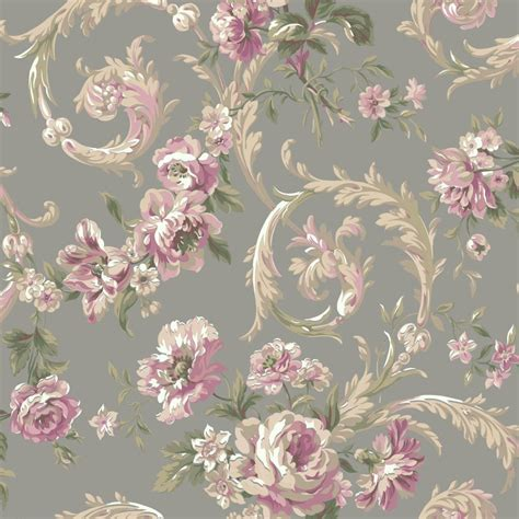 wallpaper for walls floral york wallcoverings shimmering topaz rococco floral